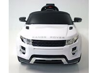 BRAND NEW BOXED AND SEALED KIDS ELECTRIC CARS RANGE ROVER EVOQUE 12 VOLT