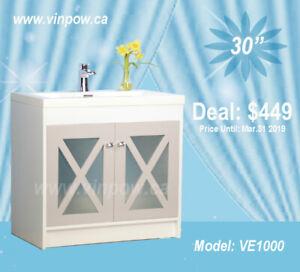 Bathroom Vanities/Shower Doors/Faucets/Toilets/Tub- SuperSale