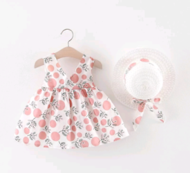 Baby Girl Pink Dress and Hat