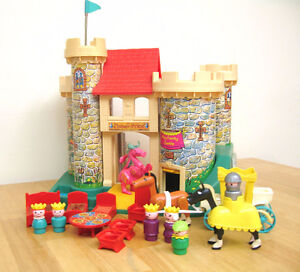 Fisher Price Vintage 70's Little People Castle -Mint with Box