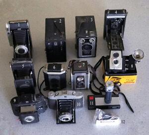 12 Vintage Cameras