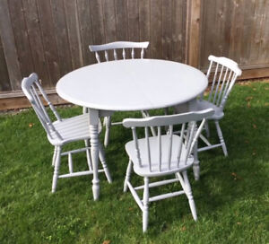 Refinished Vintage Farmhouse Dining Set