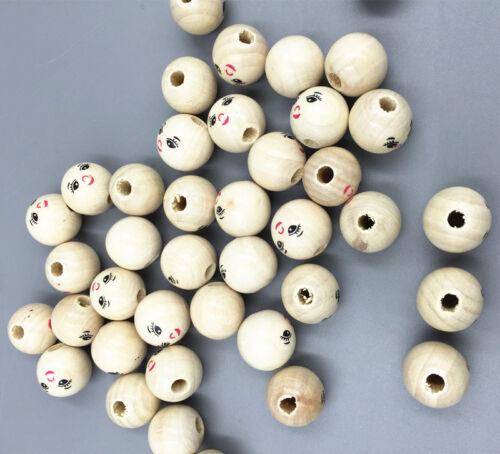 lets make Nat/ürliche Runde Holzperlen aus Holz Lose Perlen Schnuller Clip DIY Zubeh/ör