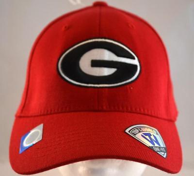 TOW Georgia UGA Bulldogs Hat,Cap,NWT,One-Fit,UGA Bulldogs Logo,Red+Blk+Wht