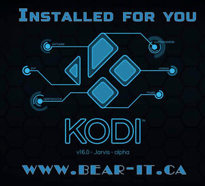 KODI installed/Repaired & configured for you on your device