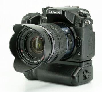 Panasonic GH4 camera, Metabones Adapter and Panasonic lenses