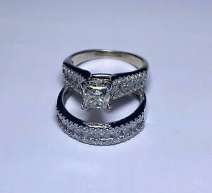 ** Stunning engagement ring and band - $8000