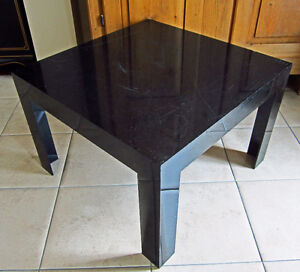 TABLE A CAFÉ EN ABS NOIR - BLACK ABS COFFEE TABLE