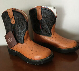 New - Ladies, Leather, Old West Cowboy Boots - 7.5 - 8