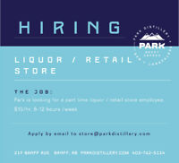Looking for casual part-timers for retail/liquor sales