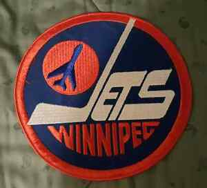 """WINNIPEG JETS 8"""" PATCHES  3 IN TOTAL"""