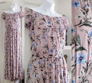 LAVENDER PINK FLORAL LONG DRESS American Eagle Outfitters