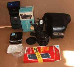 Camera Appareil Photo Minolta Flash Filtre Lentille Lens Vintage