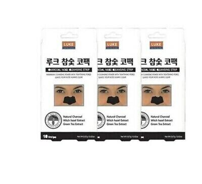3PCS LUKE Charcoal Nose Cleansing Strips Packs Skin Care Patch Type Conventional