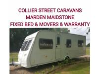 2007 Lunar Solaris 4 berth fixedbed caravan +motor movers