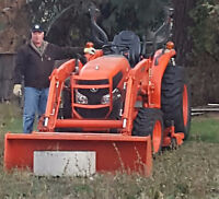 Kubota 32 HP 4x4 tractor with attachments