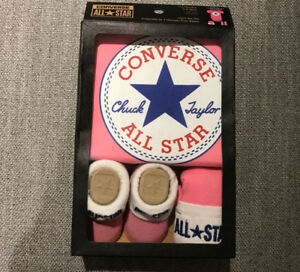 NEW Converse onesie set 0-6 months