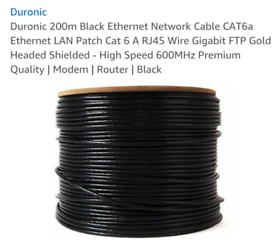Cat 6a ethernet cable