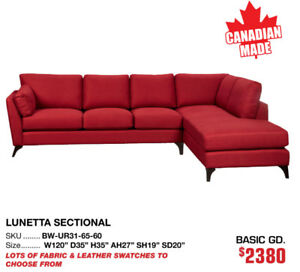 20% OFF Canadian made sofas, sectionals and accent chairs!