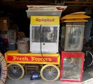 Popcorn Rolling Wagon plus Fix up Popcorn Machines
