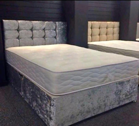 STRONG DIVAN bed set with luxury mattress and FREE MATCHING HEADBOARD