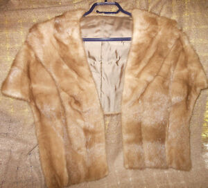 Real Mink Cape