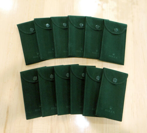 Genuine Factory Rolex Service Green Velvet Travel Storage Protection Pouch 12pcs