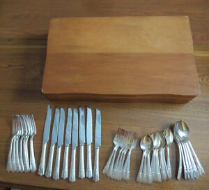 Set of vintage silverplate cutlery