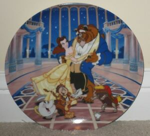"Disney Beauty and the Beast ""Love's First Dance"" Collector Plate"