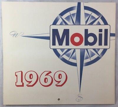 Original 1969 Mobil Oil Gas Full Year Calendar Southwest Texas New Mexico
