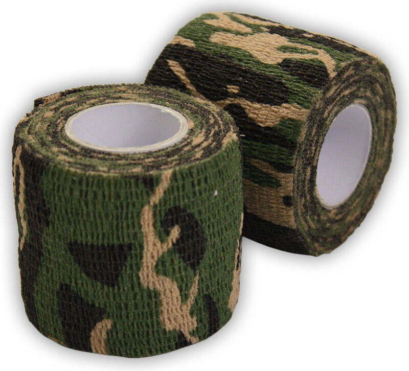 camo tape wrap camouflage rifle gun hunting stealth duct fabric woodland camping diy grass desert guns bow non outdoor self