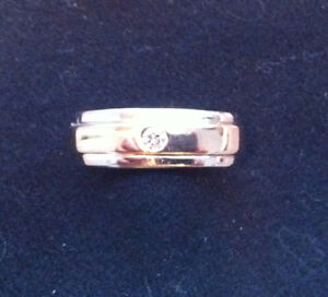 Custom made ! Two tone White and Yellow Gold Band