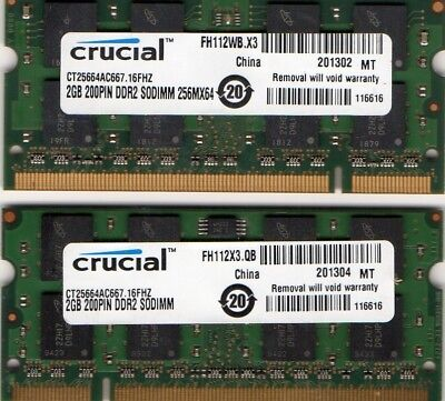 New 4GB 2x 2GB Apple IMac A1200/A1207/A1208/A1225 / Mac Mini A1176 Laptop Memory for sale  Shipping to India