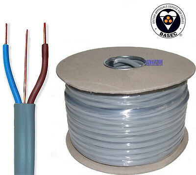 BEST 2.5mm Twin and Earth T&E Electrical Cable Wire 100M Metres NewColours 6242Y