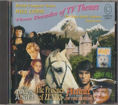 C.D.MUSIC  E358  PAUL LEWIS : THREE DECADES OF TELEVISION THEMES   - Decade Themes