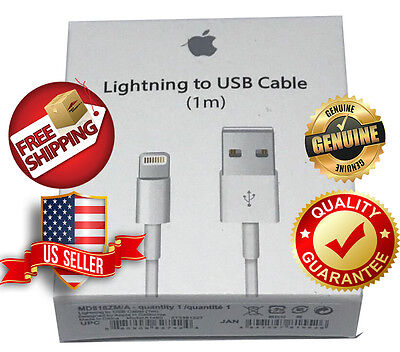 New Genuine Original Apple Lightning to USB Charge Cable for iPhone 6s/Plus/7