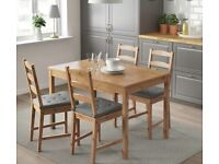Dining table and two chairs IKEA JOKKMOKK