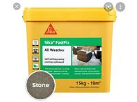 Sika fast fix all weather jointing compound - 15kg - Stone - New unopened.