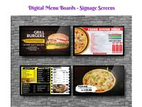 Signage Screen - Menu Board - Advertisment