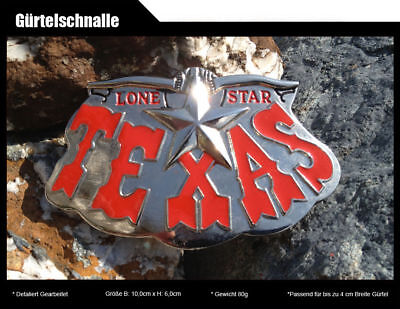 Gürtelschnalle TEXAS LONE STAR Cowboy Western Country USA US Marshall Buckle 182 ()