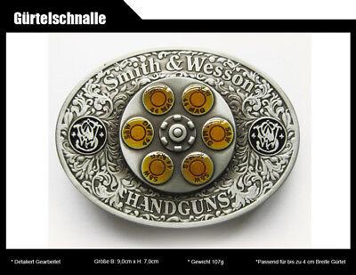 Gürtelschnalle Smith & Wesson 44 MAG Gun Spinner Bullet S&W Buckle Gürtel Spinner