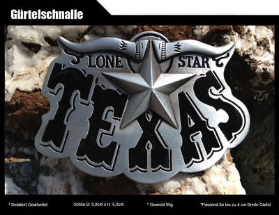 Gürtelschnalle LONE STAR TEXAS Cowboy Western Country USA US Marshall 44 ()
