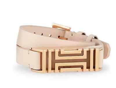 50% OFF MSRP  Tory Burch for Fitbit® Light Oak Leather Rose GOLD Wrap Bracelet