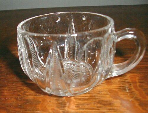 custard cup TARENTUM 292 Ladders or Loop & Pyramid eapg Pattern Glass  Set of 4