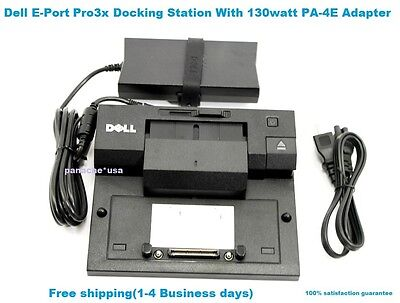 Dell Latitude E-Port Pro3x Docking Station With Genuine PA 4E Adapter.