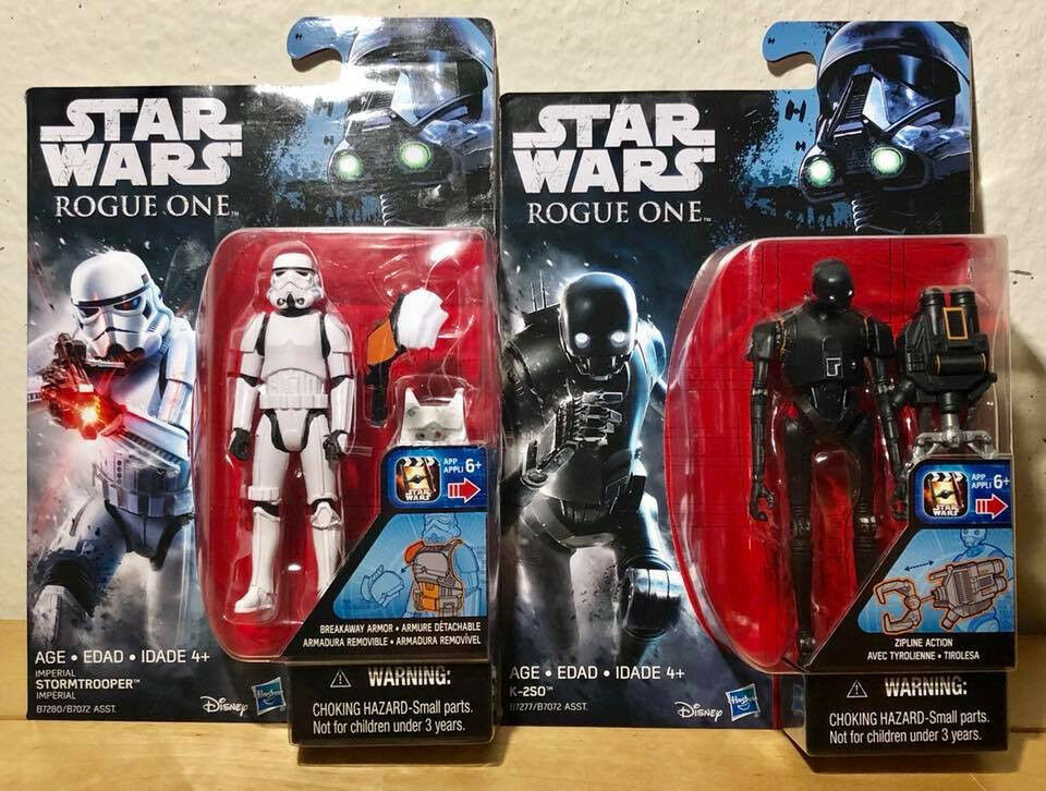 Star Wars K-2SO & Stormtrooper 3.75in Action Figures Rogue O