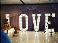 Hire our stunning 5ft 'LOVE' add the WOW Factor to your speical day £170