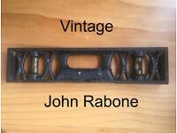 Vintage John Rabone & Sons cast iron and brass, 3 vials, spirit level. Happy to post.