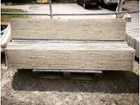 Slate effect concrete gravel boards / kick boards / concrete plinths