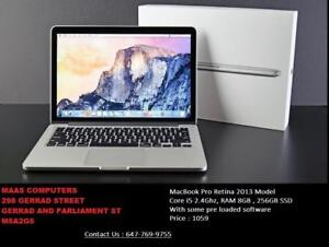 "Macbook Pro 13"" Retina - Core i5_2.4 Ghz_8GB RAM_256 GB SSD. Mint Condition! Comes with Store Warranty!!"